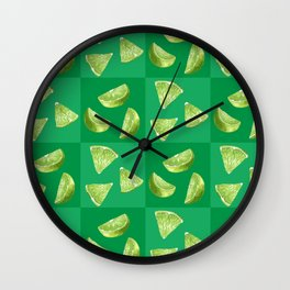 Citrus Tile with Lime Wall Clock