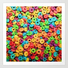 Fruit Loops Cereal Art Print