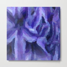 Purple Hibiscus Leaf Tapestry Print #1497 Metal Print