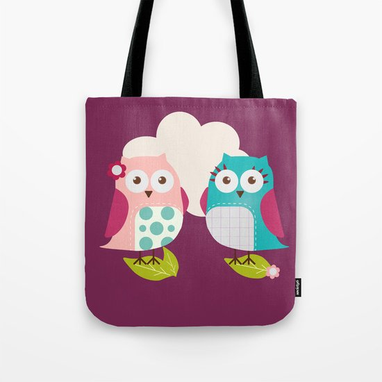 Everybody Loves Owls Tote Bag
