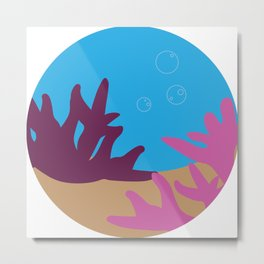Corals in the Ocean Metal Print