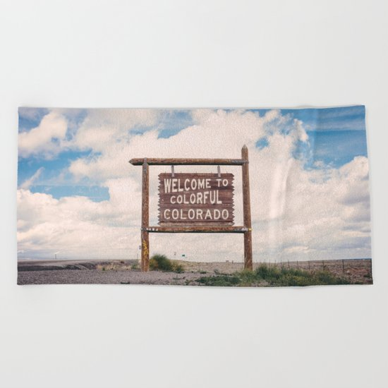 Welcome to Colorful Colorado Beach Towel