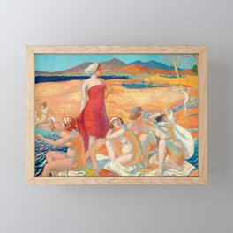 Maurice Denis  - Odysseus Awakening - Digital Remastered Edition Framed Mini Art Print