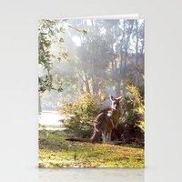 kangaroo Stationery Cards featuring Kangaroo by Nove Studio