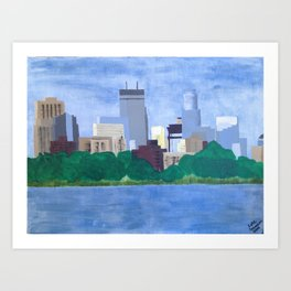 Calhoun Minneapolis Art Print