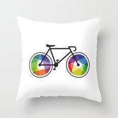 Geometric Bicycle Throw Pillow