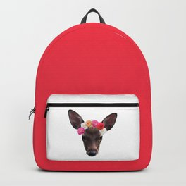 Decorated Deer | White Backpack