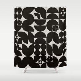 Black & White Mid Century Modern Pattern Shower Curtain