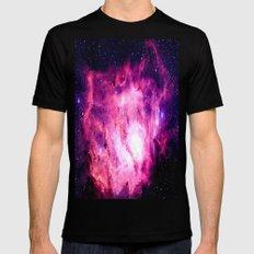 Nebula Pink Purple Mens Fitted Tee MEDIUM Black