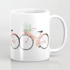 Coral Spring bicycle with flowers Mug