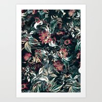 garden Art Prints featuring Space Garden by RIZA PEKER