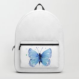 Blue Butterfly Watercolor Backpack