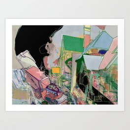 Superb suburb Art Print