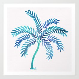Whimsical Watercolor Palm Tree Art Print