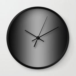 Black to White Vertical Bilinear Gradient Wall Clock