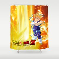 dragonball z Shower Curtains featuring Vegeta Dragonball Z best idea by customgift