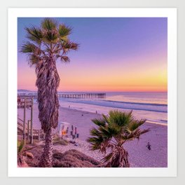 Pacific Beach Sunset Art Print