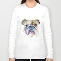 bulldog Long Sleeve T-shirts featuring Bulldog by coconuttowers