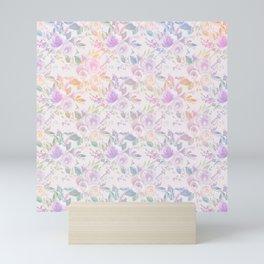 Modern lavender lilac pink watercolor floral Mini Art Print
