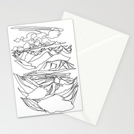 Alec and Echo Lake :: Single Line Stationery Cards
