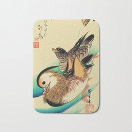 Mandarin Ducks - Vintage Japanese Art Bath Mat
