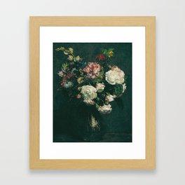 Henri Fantin Latour - Vase Of Flowers Framed Art Print