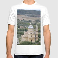 Montepulciano d'Abruzzo White MEDIUM Mens Fitted Tee