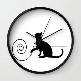 les chats #3 Wall Clock