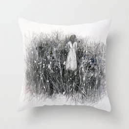 grow flowers in chaos Throw Pillow