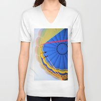 hot air balloon V-neck T-shirts featuring Hot Air Balloon by Brian Raggatt