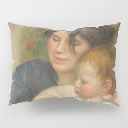 Gabrielle Renard and infant son, Jean Pillow Sham