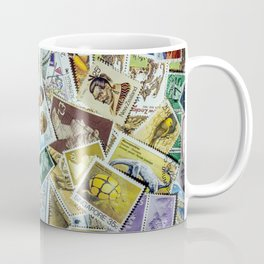 Postage Stamp Collection Coffee Mug