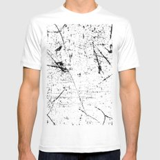 Scattered mind White Mens Fitted Tee MEDIUM