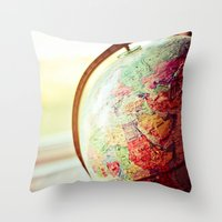 globe Throw Pillows featuring Globe  by Jo Bekah Photography