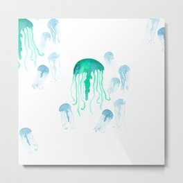 Waterolor Jellys Metal Print