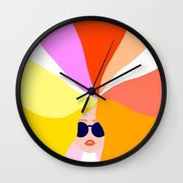 Girl Power - Rainbow Hair #girlpower Wall Clock