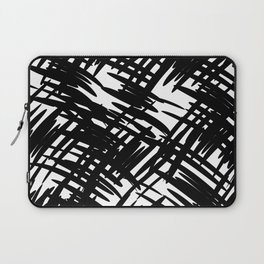 Seamless pattern with black blots Laptop Sleeve