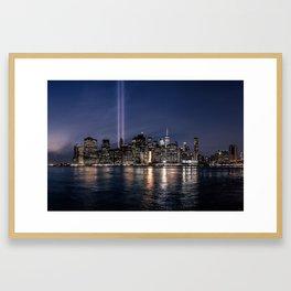 Tribute in Light. New York City, 4 Framed Art Print