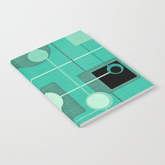 orbs and square emerald Notebook