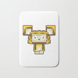 Cute Cartoon Blockimals Lion Bath Mat