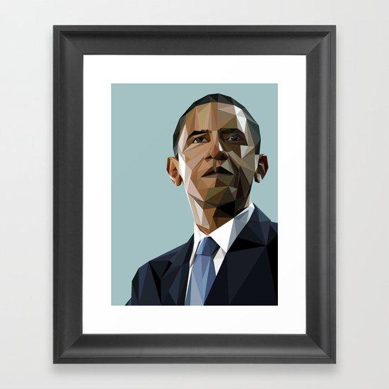 Geometric Obama Framed Art Print