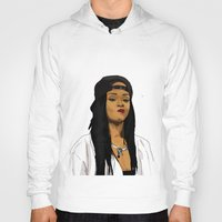 rihanna Hoodies featuring Rihanna by MikeHanz