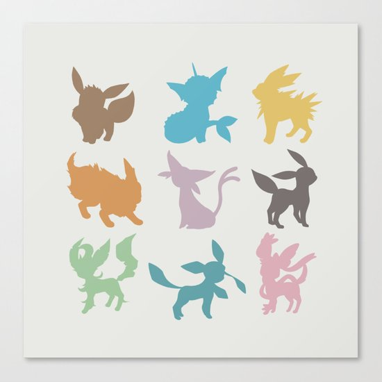 Eeveelution Canvas Print