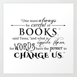Words Have the Power to Change - Tessa (White) Art Print