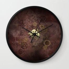 Steampunk Zodiac  Taurus Wall Clock