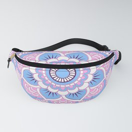 Periwinkle Blue Pink Mandala Fanny Pack
