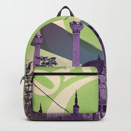 Retro travel poster — Istanbul, Turkey Backpack
