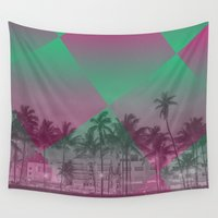 miami Wall Tapestries featuring Miami by Sander Smit