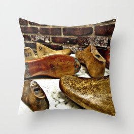 Shoe Maker Photography Throw Pillow