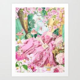 Marie Antoinette Garden Party Art Print